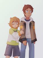 pidge and lance by Azurane