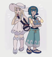 Lillie and Lana by Azurane