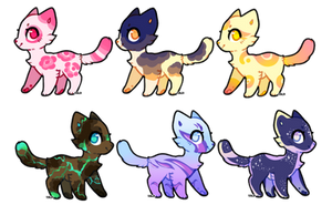 Pretty As Can Be - $5 Adopts (4/6 Open) by HazelWolfey