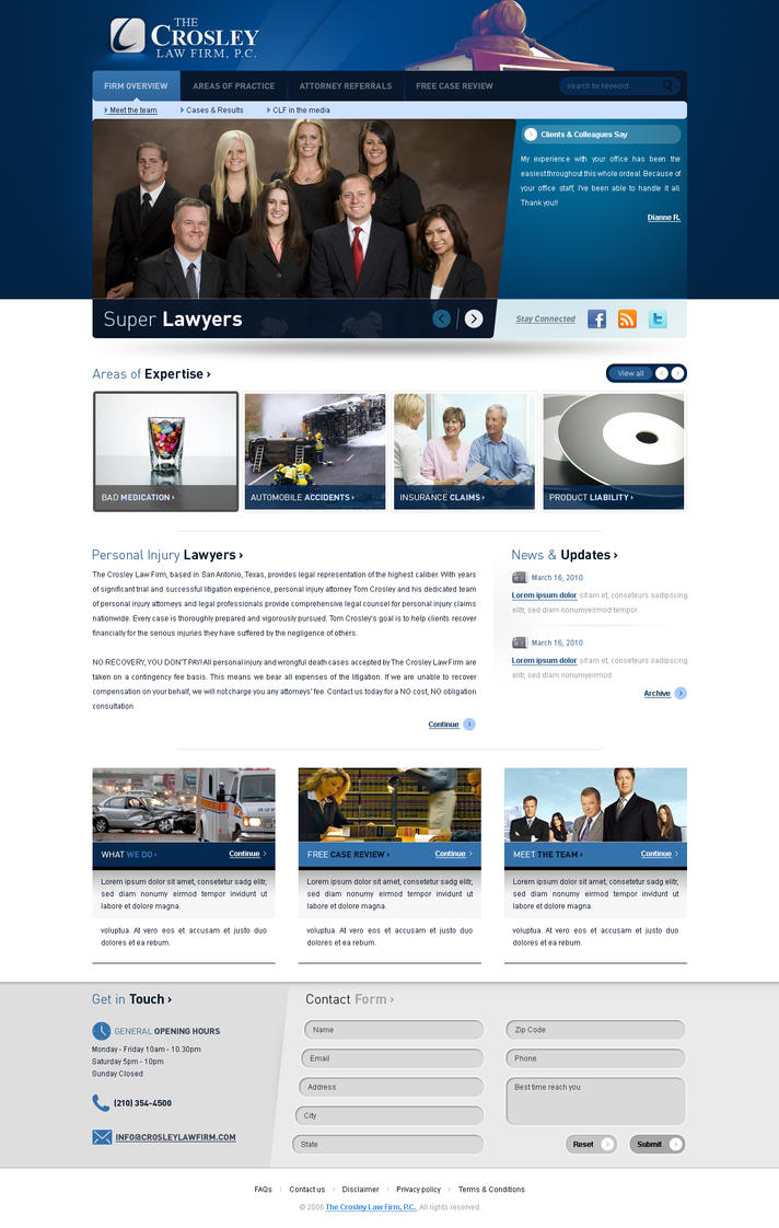 law firm by ebugz d31ygud Web Interface Showcase: Effective & Clear Web Designs