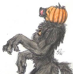 Pumpkin Wolf by Kigai-Holt