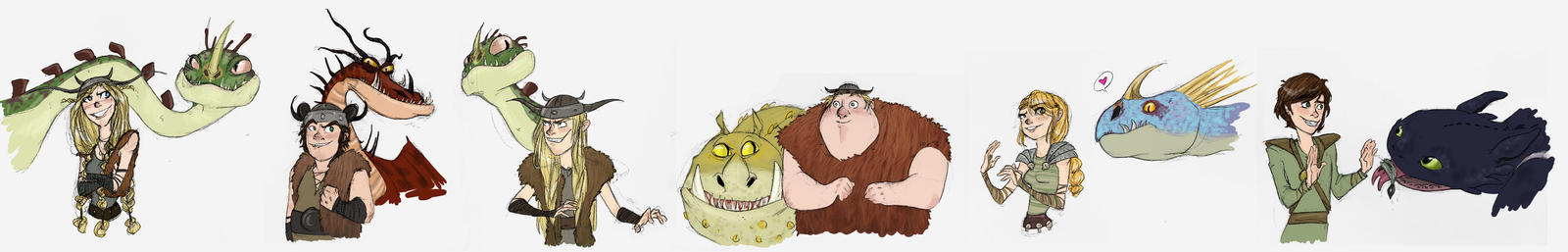 HTTYD characters hee hee by pixarjunkie