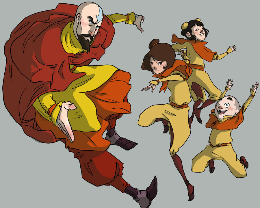 Tenzin and co by pixarjunkie