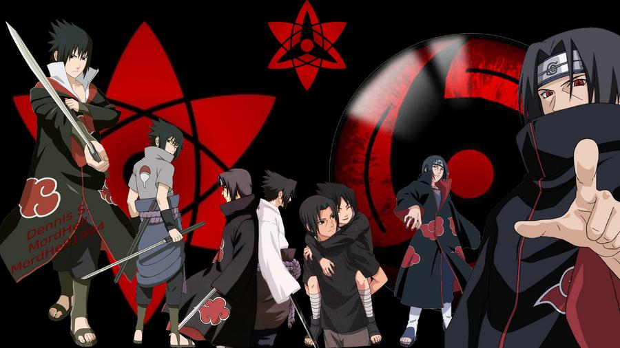 Uchiha Itachi and Sasuke Wallpaper by MordHell on DeviantArt