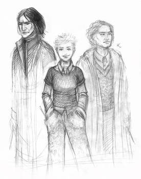 Snape, Tonks, Lupin - sketch