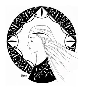 Elfwoman and Emblem