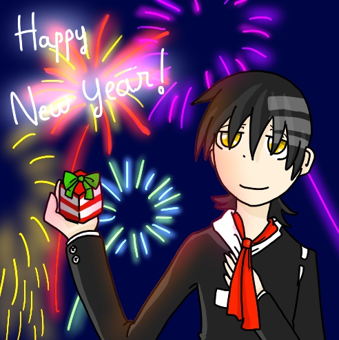 [Death the Kid] Happy new year ! =D by BrambleLady