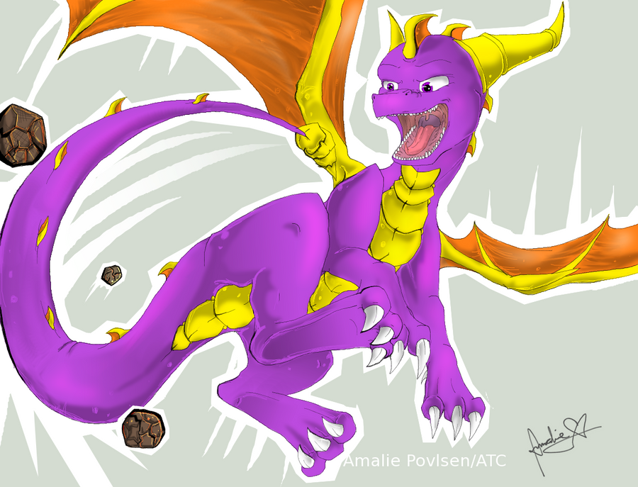 Spyro's Tail Whip by Amirah-the-cat