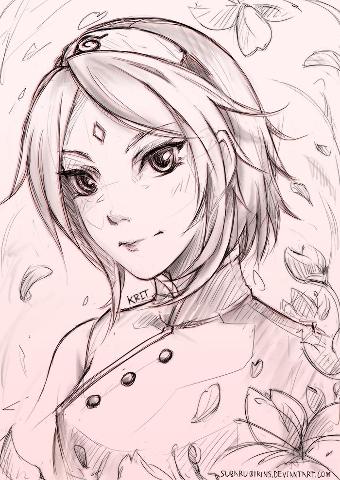 Haruno Sakura_Sketch by subaru01rins