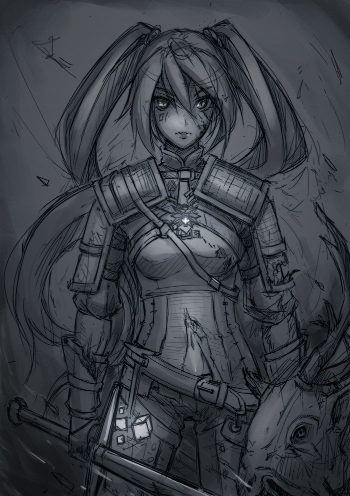 fan art_The Witcher_sketch by subaru01rins