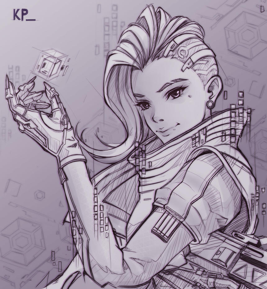 Overwatch:Sombra_(Sketch) by subaru01rins