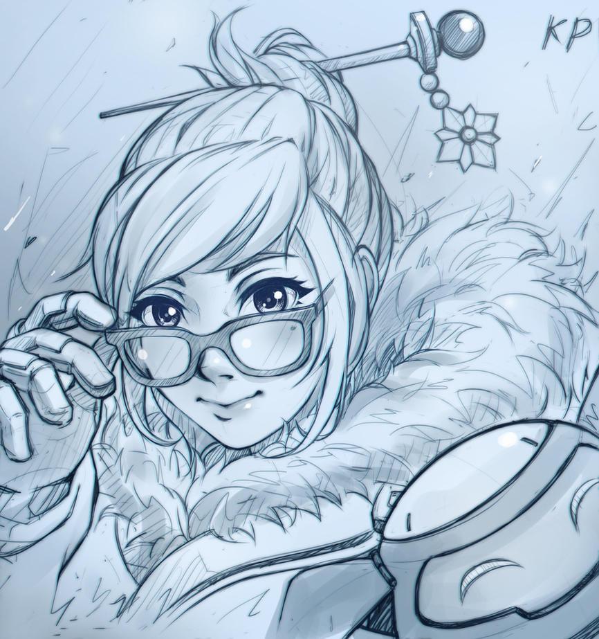Overwatch:Mei_(Sketch) by subaru01rins