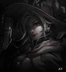 Overwatch : Mercy (halloween) by subaru01rins