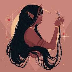 Devil Lady's Bad Hair Day