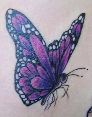 Butterfly tattoo by twinklyfairypants on deviantart for Purple butterfly tattoo