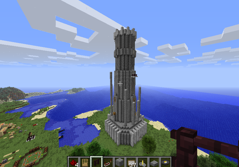 how to build a round tower in minecraft