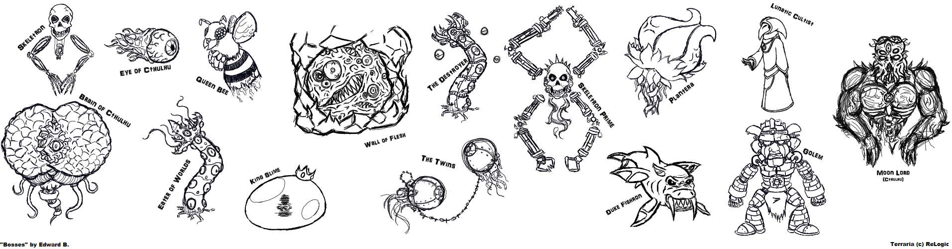 Terraria Coloring Pages Terraria Baby Bosses Coloring Pages