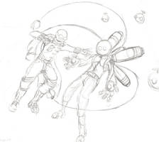 Gift - Stickman v. Bubble-Boy by LordEd
