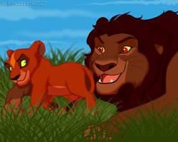 TLK - Mohatu and cub Uru by RakPolaris