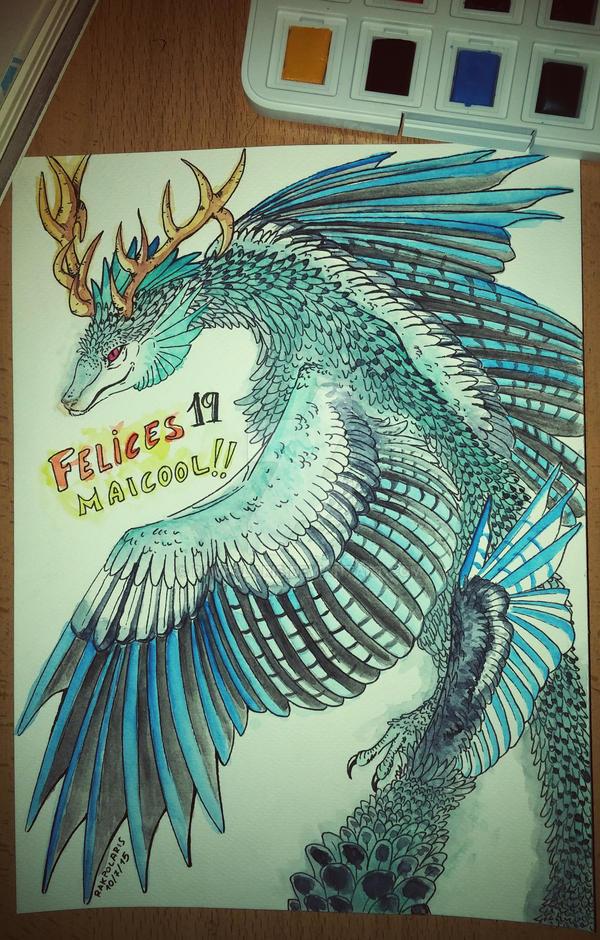 Gift - Feathered Dragon by RakPolaris