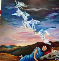 Yaakov's dream by violetspirit