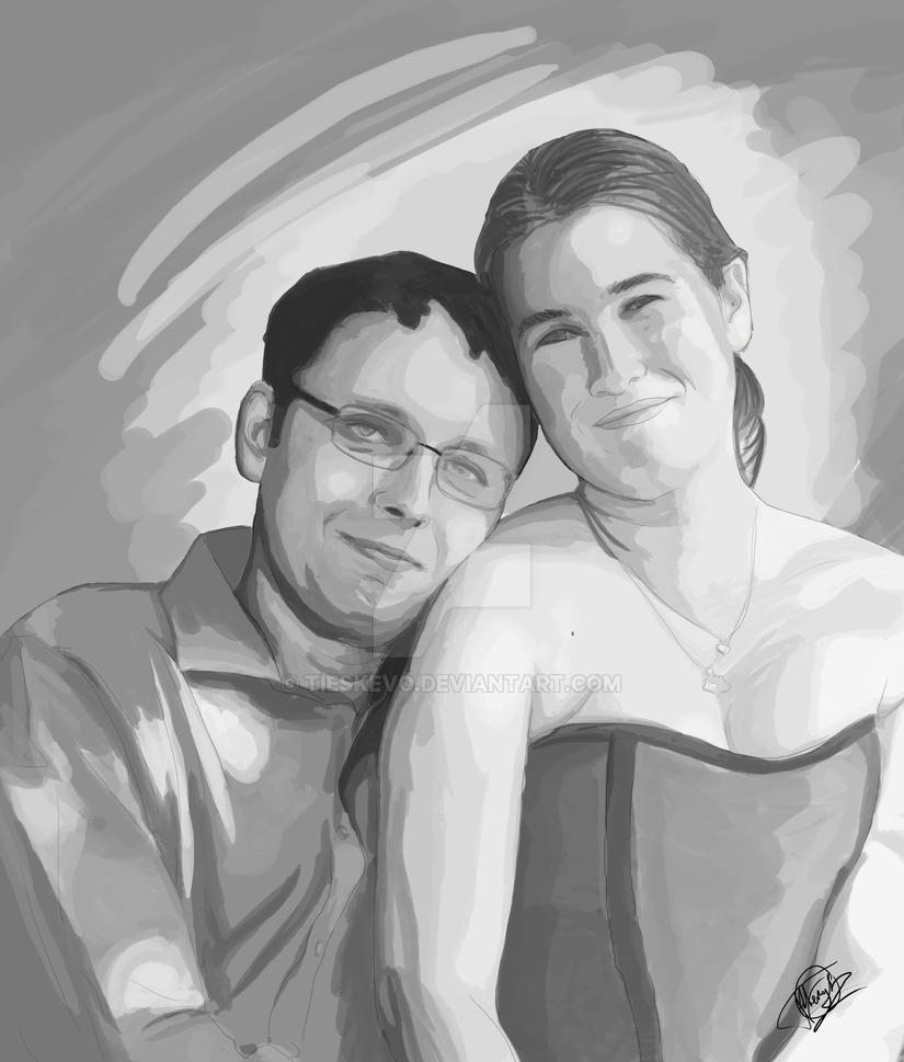Wedding portrait by tieskevo