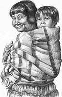 Woman and baby by 3Tallulah