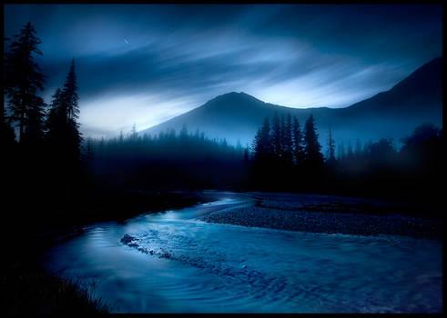 Blue River Night