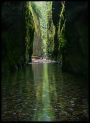 Green Shadow Gorge by MarcAdamus
