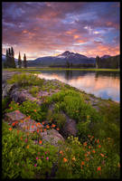 Columbine Island Sunset by MarcAdamus