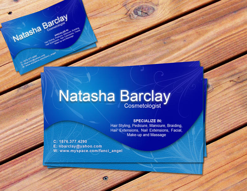 Natasha Barclay business card by KingstonGraphics on DeviantArt
