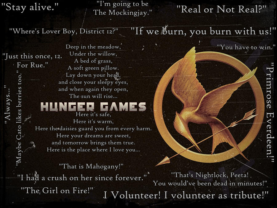 Quotes About Hunger Entrancing The Hunger Games Quotesmockingjayrue On Deviantart