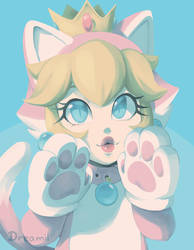 cat peach by Stardust-Dreamii