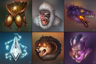 Masters of the ARK (boss icons, pt. 1) ~commission