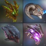 Masters of the ARK (boss icons, pt. 2) ~commission
