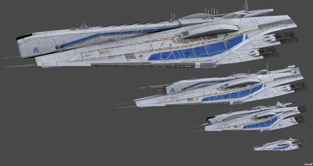 Comparison Alliance Ships Concept by nach77