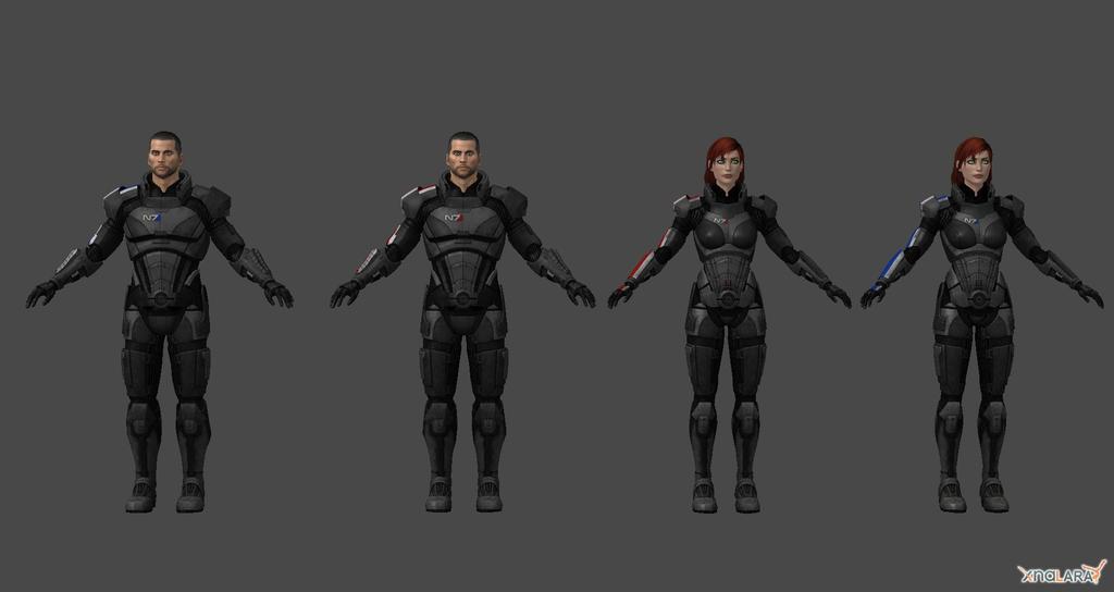 Default Shepard Armor by nach77