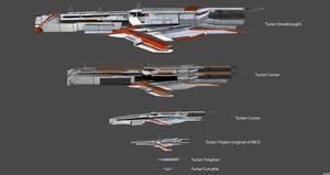 Turian Ships Concepts V2
