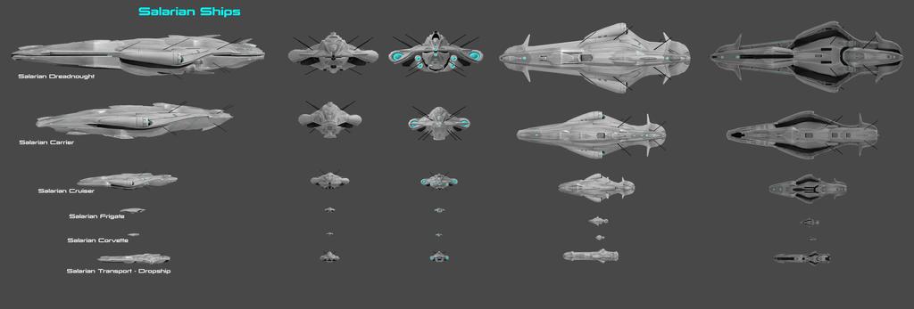 Salarian Ship Concept by nach77