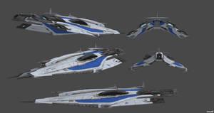 Alliance Heavy Frigate - Actium Class by nach77
