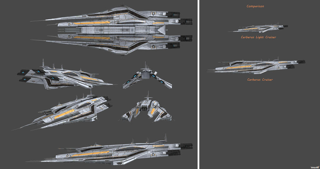 Cerberus Light Cruiser - Tiberius Class by nach77