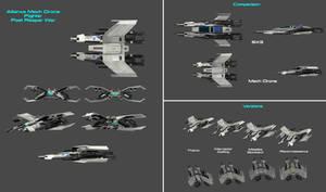 Alliance Mech Drone Fighter - Post Reaper War