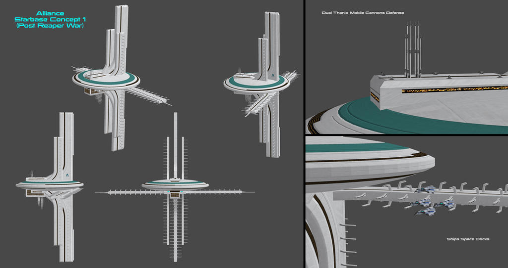 Alliance Space Station Concept 1 (Post Reaper War) by nach77