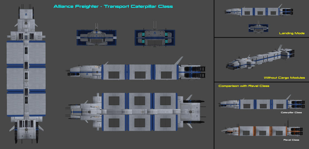 Alliance Freighter Caterpillar Class by nach77