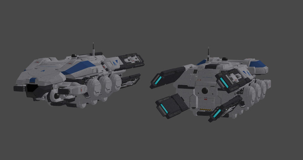 Mass Effect 3 Vehicles: Alliance Themis Class By Nach77 On DeviantArt