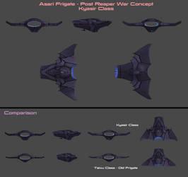 Asari Frigate Concept by nach77
