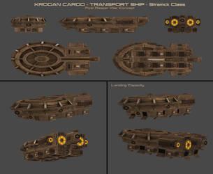 Krogan Cargo-Transport Ship Concept by nach77