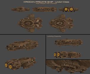 Krogan Frigate Concept by nach77