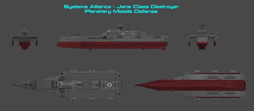 Jane Class Defense Destroyer by nach77
