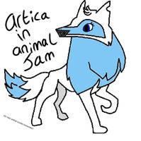My main animal/Artica on animal jam! by PaintedGems